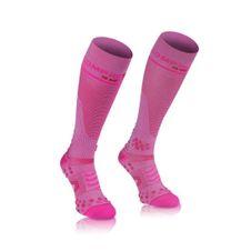 COMPRESSPORT Socken-rosa Kniestrümpfe voll V2. 1