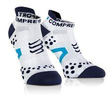 COMPRESSPORT LO weiß/blauen Socken Run V2. 1